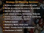 strategy for planning services