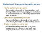 motivation compensation alternatives