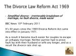 the divorce law reform act 1969