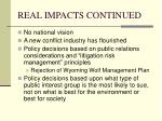 real impacts continued1