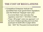 the cost of regulations