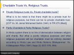 charitable trusts vs religious trusts