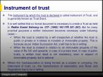 instrument of trust