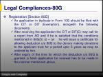 legal compliances 80g