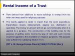 rental income of a trust