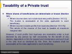 taxability of a private trust