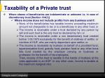 taxability of a private trust1