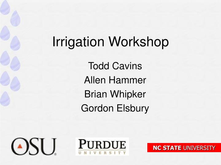 irrigation workshop n.