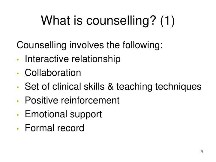 ppt section 3 introduction to basic counseling skills