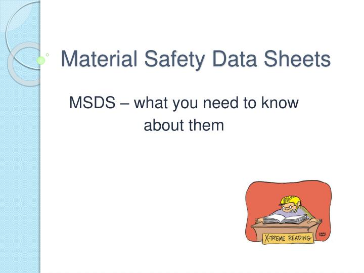 material safety data sheets n.