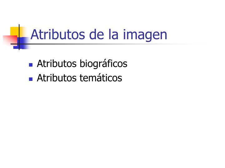 Atributos de la imagen