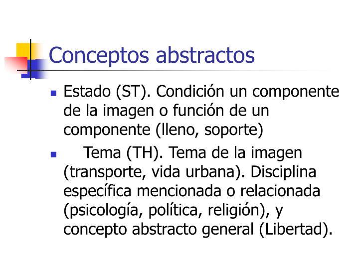 Conceptos abstractos