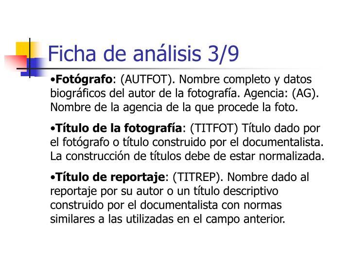 Ficha de análisis 3/9