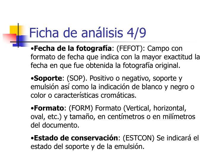Ficha de análisis 4/9
