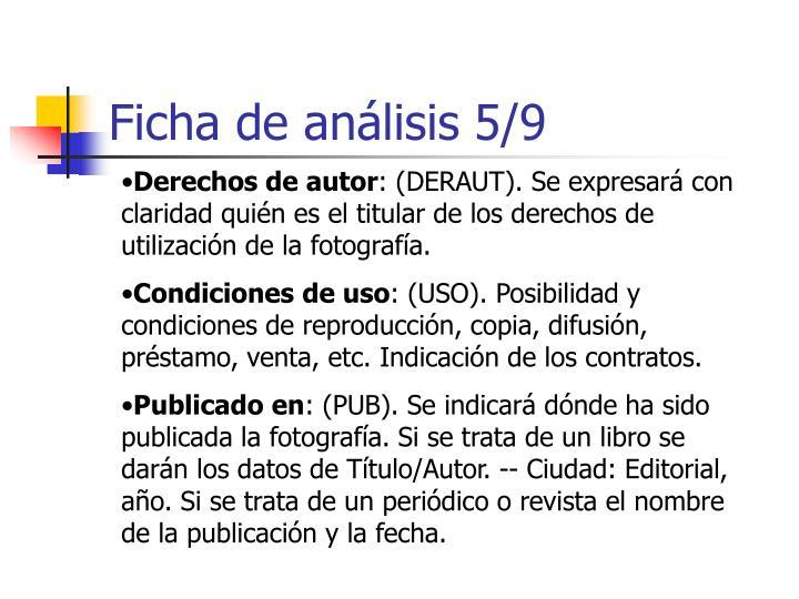 Ficha de análisis 5/9