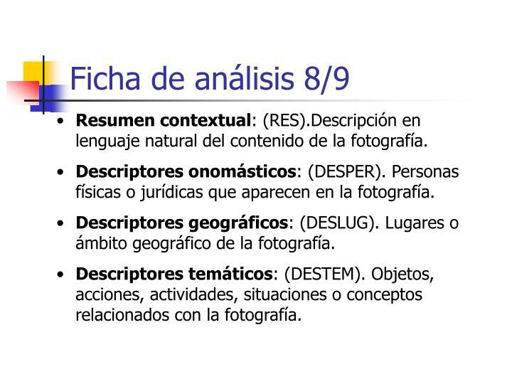 Ficha de análisis 8/9