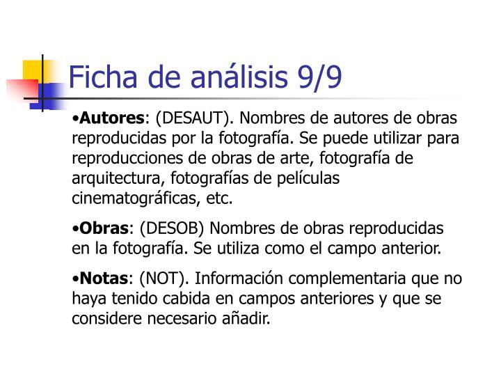 Ficha de análisis 9/9