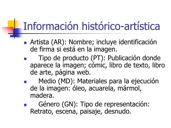 Información histórico-artística