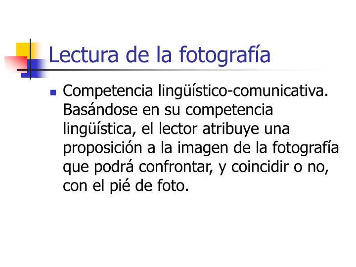 Lectura de la fotografía