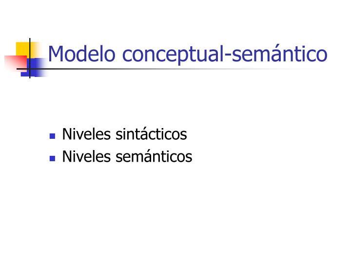 Modelo conceptual-semántico