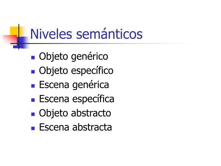 Niveles semánticos