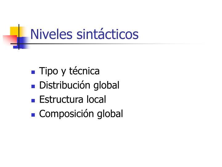 Niveles sintácticos