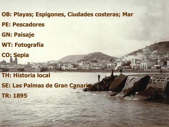 OB: Playas; Espigones, Ciudades costeras; Mar