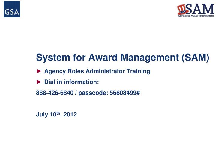 system for award management sam n.