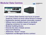 modular data centres
