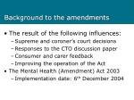 background to the amendments