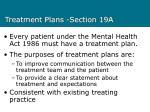 treatment plans section 19a