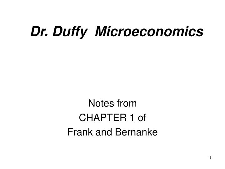 dr duffy microeconomics n.