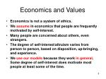 economics and values