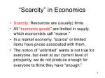 scarcity in economics