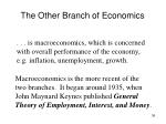 the other branch of economics
