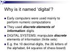 why is it named digital