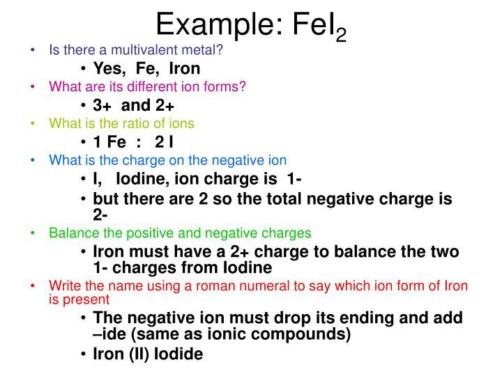 Example: FeI