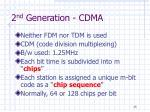 2 nd generation cdma