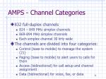 amps channel categories