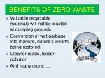 benefits of zero waste