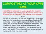 composting at your own home