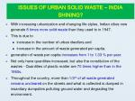 issues of urban solid waste india shining