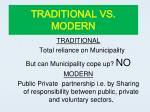 traditional vs modern