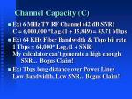 channel capacity c3
