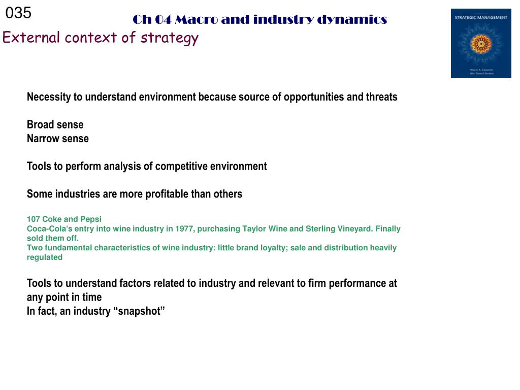 PPT - Strategic Management: Concepts A dynamic perspective Mason A