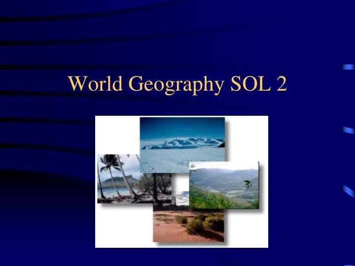 world geography sol 2 n.