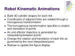 robot kinematic animations