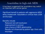 azacitidine in high risk mds