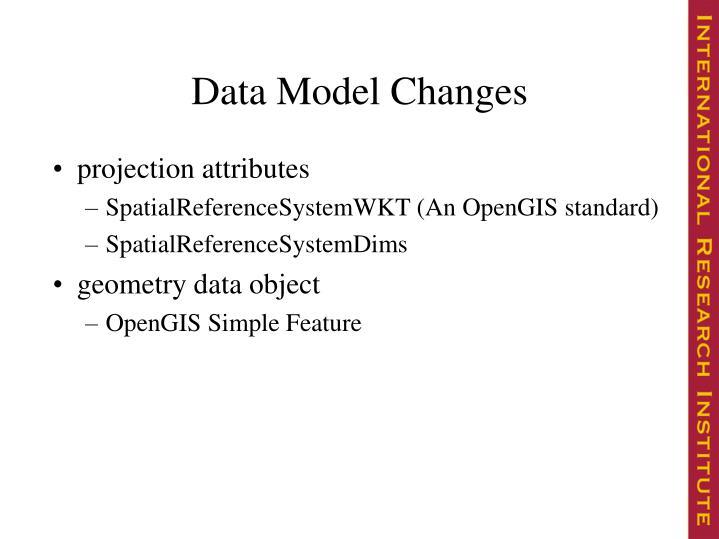 Data Model Changes