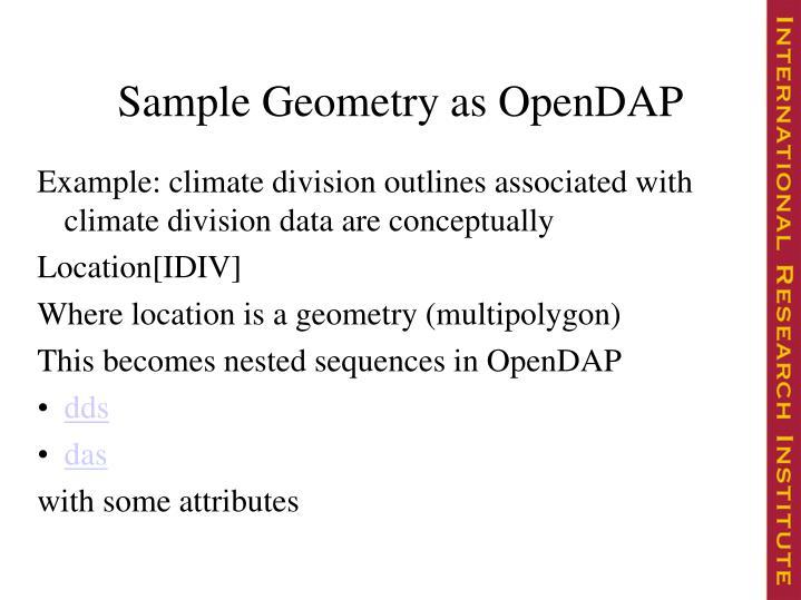 Sample Geometry as OpenDAP